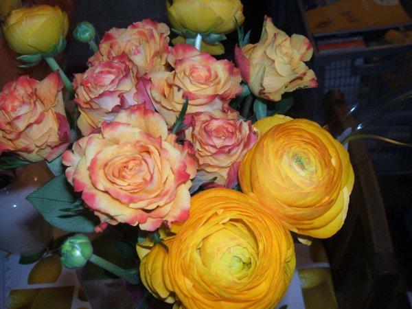 de jolies fleurs pour attirer le soleil...