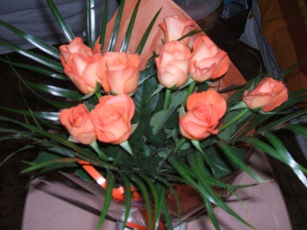 des fleurs...
