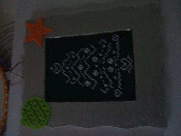 suite de mes créas pour le marché de Noël de Céline...