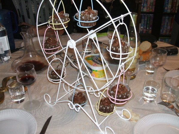 mes cup cakes pour les 22 ans de Lola
