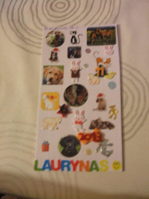 pour l'album photo de Laurynas
