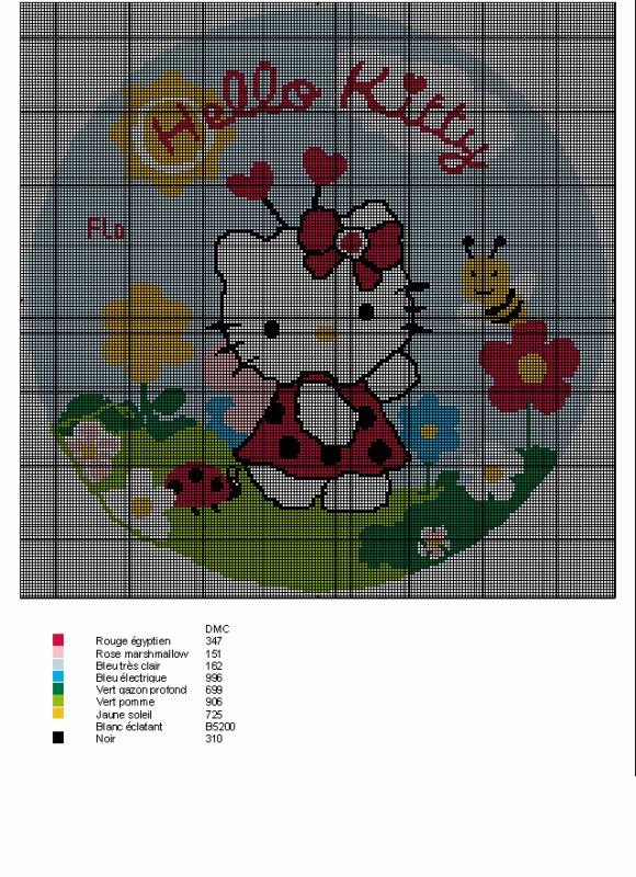 une grille gratuite Hello Kitty