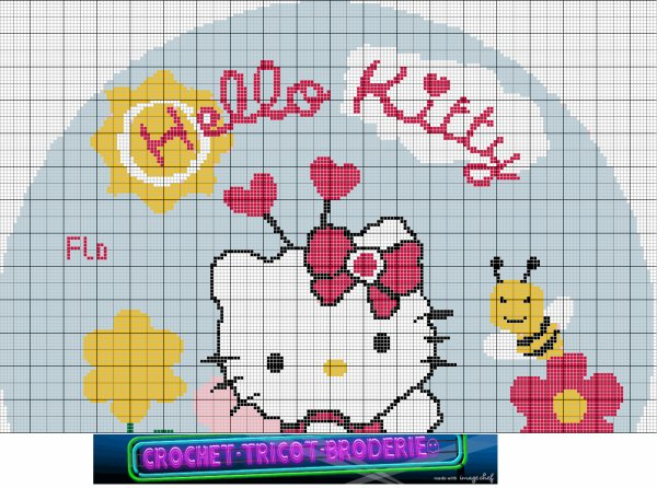 une grille gratuite Hello Kitty