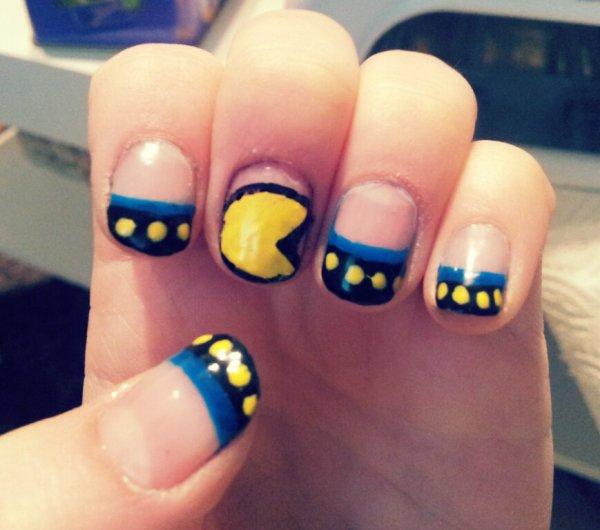 Nail-Art Pacman