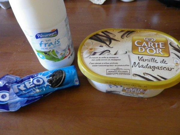 1- Milk-shake au Oréo