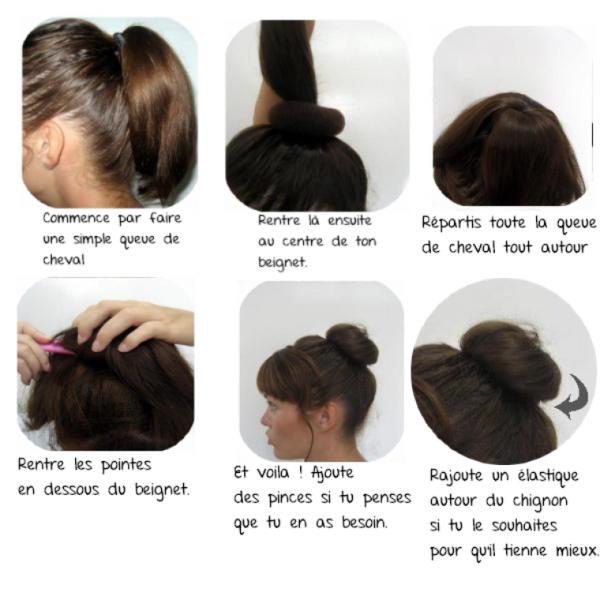 cheveux #1 : tuto le chignon donut / le chigon bun ...
