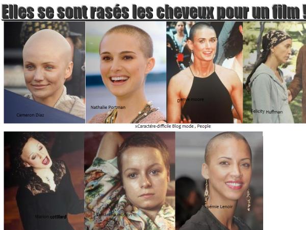 Rubrique : Elles se sont rasés les cheveux pour un film !?!