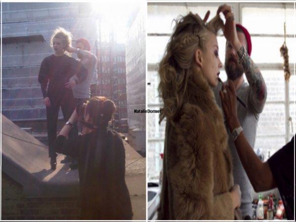 Natalie Dormer Découvrez deux photos du Behind the Scene d'un photoshoot. Qu'en penses-tu ? Je pense qu'il va être magnifique !!