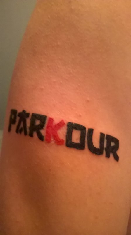 Parkour, mon tatouage, ma passion, ma raison de vivre