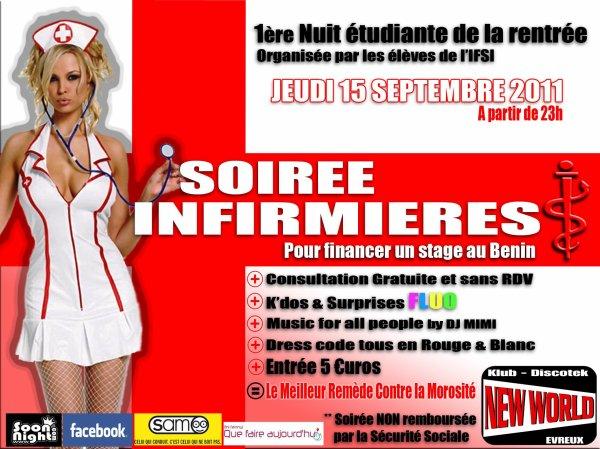 Jeudi 15 septembre 2011: Soirée étudiante infirmières ! ! !