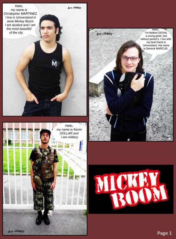 BD des Aventures de Mickey Boom