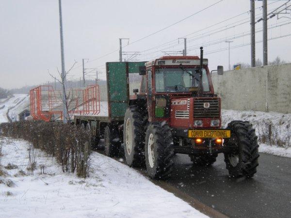 petite sortie et retour sous la neige
