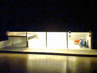 Hangar 1/32 de nuit avec l éclairage