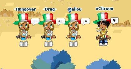 Moi, j'aime l'Italie.