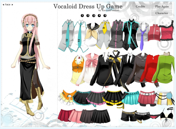 Jeu Vocaloid Dress Up