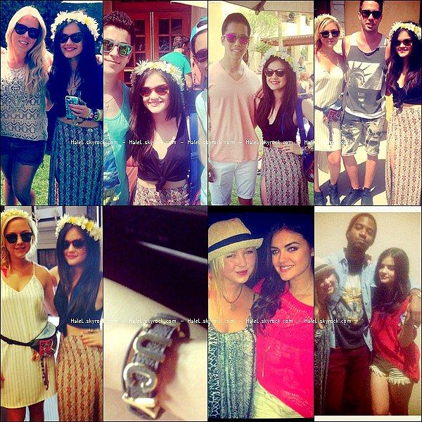 14/04/2013:  Lucy Hale, souriante, était présente à l'événement  Hard Rock Music Lounge à l'hôtel Zoso à Palm Springs, en Californie (Etats-Unis). Comment la trouvez-vous ?
