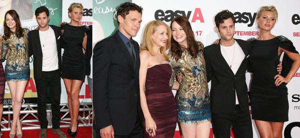 """13/09/10 : Emma était à l'avant-première de son film """"Easy A"""" avec les autres acteurs, ainsi que sa meilleure amie Taylor Swift."""