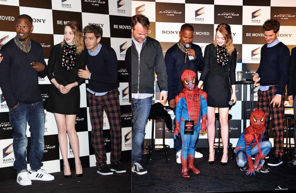 31/03 : Notre cast favori était à Tokyo pour promouvoir The Amazing Spider Man 2.