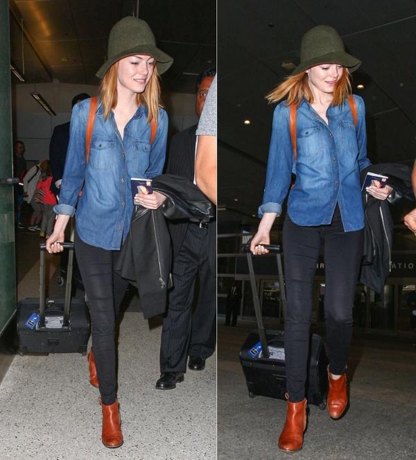 31/05 : Emma a été photographié à l'aéroport de LAX (elle venait de décoller de NYC). Andrew était également avec elle.