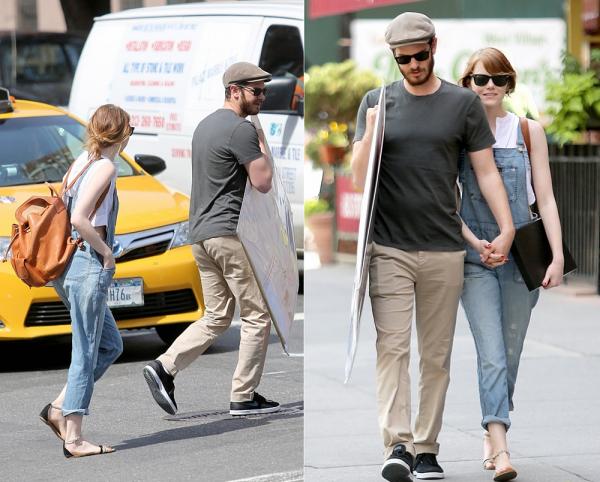 21/06 : Notre couple a encore attiré les foudres des paparazzis alors qu'il se promenait dans les rues de NYC. Andrew n'a pas l'air très content de les voir.