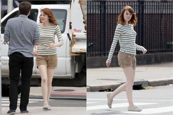 16/07 : Emma a été photographié dans les rues de Rhode Island avec des amis.