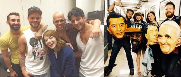 23/08 : Emma a été vu dans les backstages du concert d'Arcade Fire, en train de poser avec le groupe lui-même.