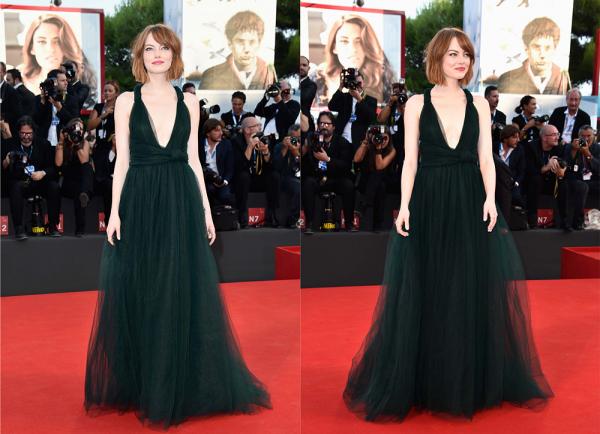 27/08 : Toujours au festival de Venise, s'est produit l'avant-première de Birdman, ainsi que l'ouverture de la cérémonie. Emma était juste plus que magnifique dans une belle robe Valentino couleur vert émeraude.