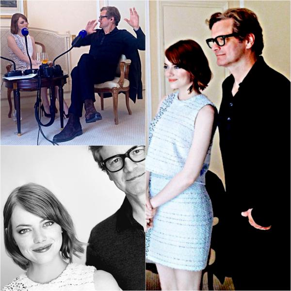 """10/09 : Emma arrivée en France pour la promo de """"Magic in the Moonlight', dut répondre à plusieurs interviews de magasines et radios français en compagnie de Colin Firth."""
