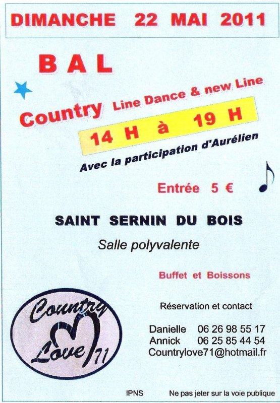 Bal country à St Sernin du Bois !
