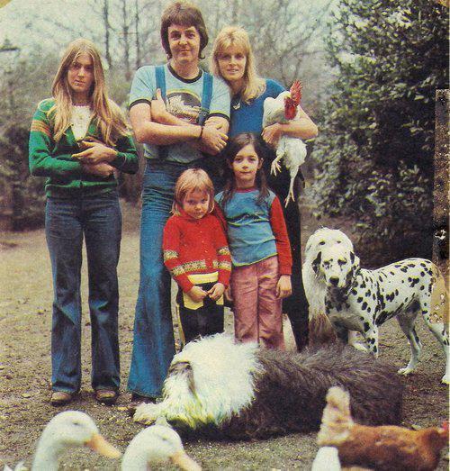 PAUL MCCARTNEY ET SA FAMILLE