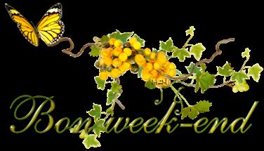 Bon weekend à toutes et tous