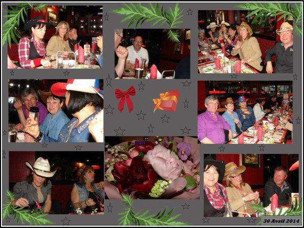 Un anniversaire fêter entre amis , rigolades, délires, bonne table mais surtout bons moments passés ensembles ,superbe soirée ,Merci les amis et encore Joyeux anniversaire Nat