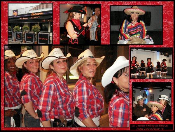 Suite de la démo des Texanes Feeling au Prime Time ....  Place aux  instants détente après le show ,avec une ambiance festive et dansante  dans ce pub très accueillant ...