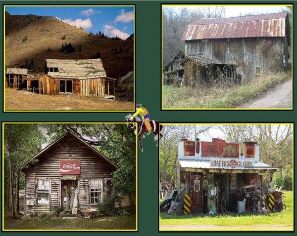 Quelques belles images de vieilles baraques western que je collectionne ..... Je posterai d'autres images dans la semaine de sujets américains tous aussi jolis ...