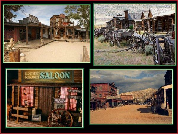 Suite avec quelques images de ma collection sur l'Amérique au temps du western ..... Aujourd'hui : Les villes  qui font penser aux films western .......