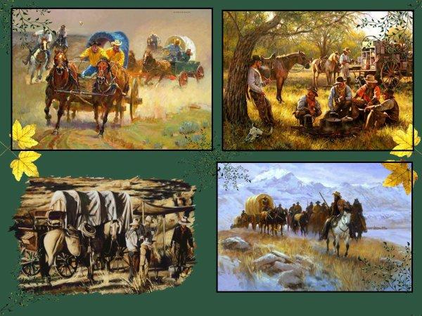 Encore des images western : -----     Aujourd'hui je vous présente quelques belles images de Cavaliers et leur chariot .....