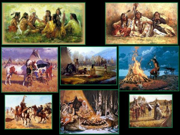 Les indiens : Quelques belles images comme promis ,pour une amie !! N°5 - Suite des images de ma collection sur le Far-West ...