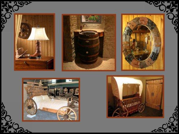 N°2 : La déco ..... Toujours pour l'intérieur , dans le style Western .