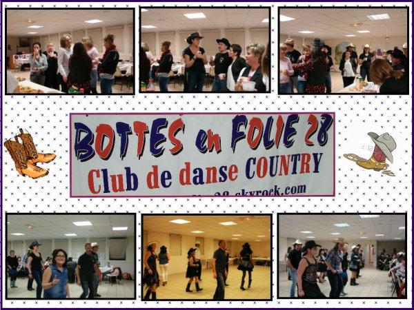 Bal Repas Partage avec Les bottes en Folie 28 : Une soirée de rencontres , avec plusieurs clubs la région , et l'occasion de partager les danses , et surtout de bons moments.