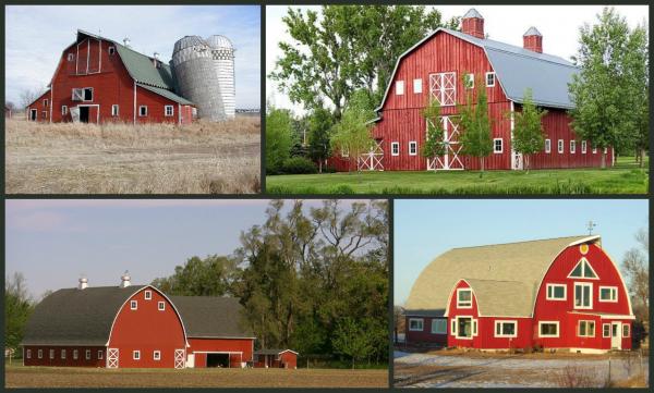 Pourquoi les granges américaines sont elles peintes en rouge ? N°1 .......