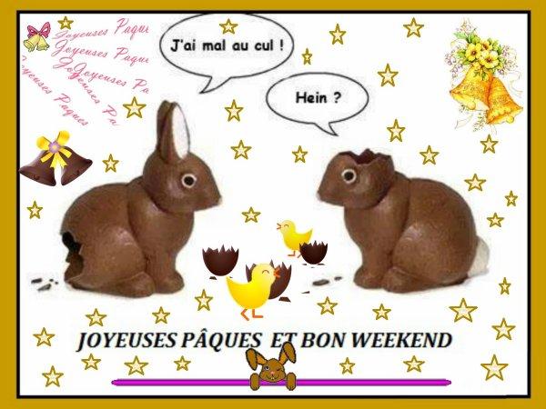 Les cloches vont déverser leurs chocolats et autres gourmandises sous la pluie !!!!  Joyeuses fêtes de Pâques à tous .