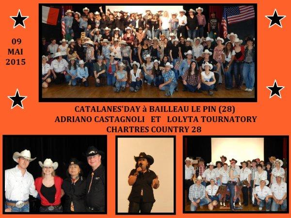 N°1:--  Adriano Castagnoli et Lolita Tournatory à Chartres Country 28 pour le Catalanes' Day