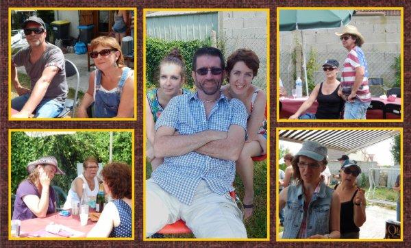 Journée  country chez les Bottes en Folie : repas-bal partage avec un soleil enfin présent .