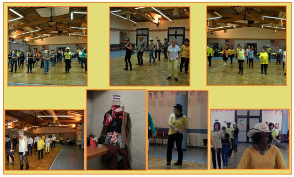 Deuxième bal Téléthon avec notre Club '' Chartres Country '' . à Champhol 28.