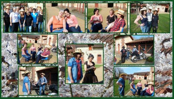 Bal de Passion Country ce dimanche avec l'arrivée du printemps ......... Sympa de faire des clichés extérieurs .... Il y avait Longtemps .....