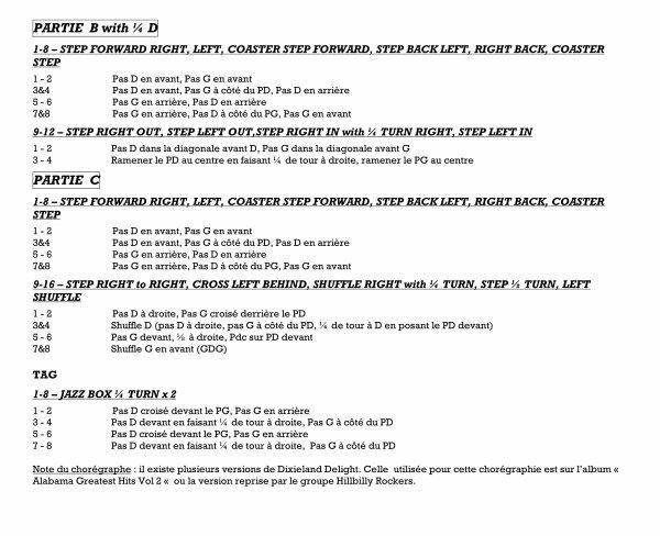 Dixieland Delight : Filmée au bal des Bottes en Folie le 18 mars 2017 à Thymers 28. ...  Danse qui sera présentée au bal Téléthon du 2 décembre 2017 à Guichainvile 27 avec 16 clubs réunis .