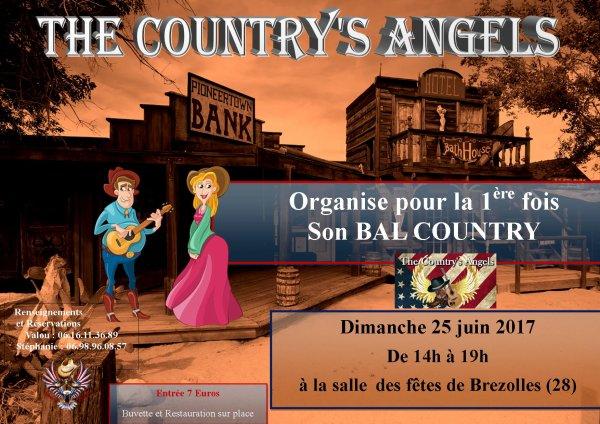 Bal des Country's Angels à Brezolles (28) de 14h à 19h . Animé par Valou . Notre premier bal alors venez nombreux .