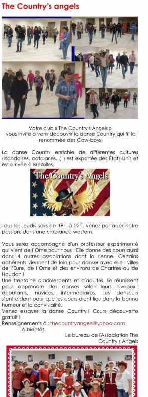 Petit article paru dans l'As des Associations de Brezolles 28 pour les Country's Angels. Merci Stéphanie du partage et bonne lecture à tous