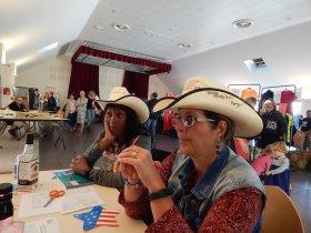Forum des associations de Brezolles 28. Les Country'Angels étaient là pour représenter le club et se faire de nouveaux amis .