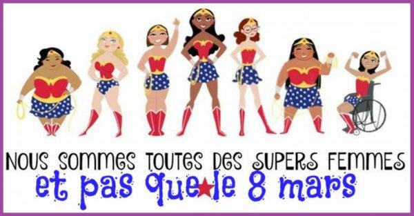 """Jeudi 08 Mars 2018   -  -  '' Journée de la femme  """" Un clin d'½il à toutes les femmes de l'univers ."""